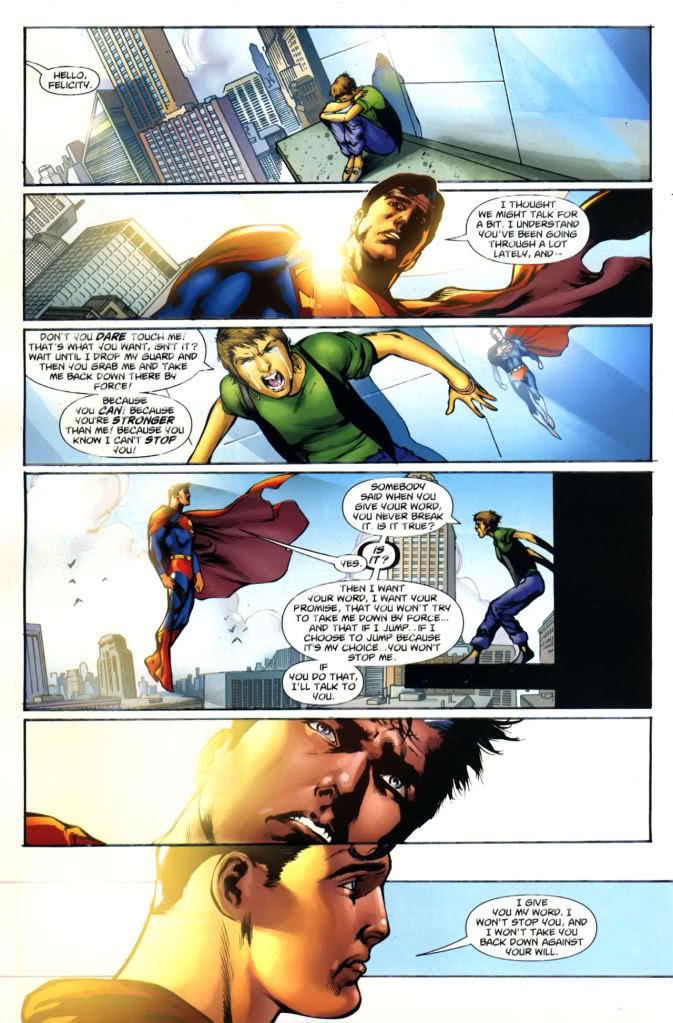 Superman Saves Suicidal Girl