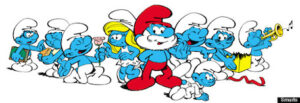 Are these the new Smurfs designs? Just kidding.